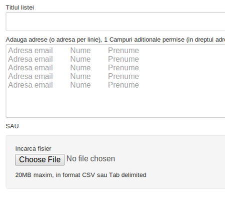 lista email
