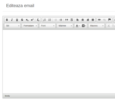 editare email