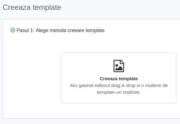 creare template
